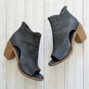 Maurices Dani Distressed Perforated Peep Toe Heels